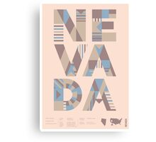 Typographic Nevada State Poster Canvas Print
