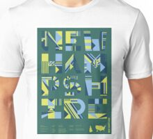 Typographic New Hampshire State Poster Unisex T-Shirt