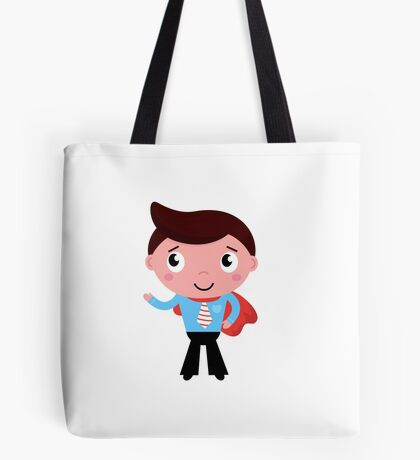 Heroic business man showing something with hand. Edition 2016 Tote Bag