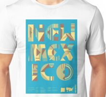 Typographic New Mexico State Poster Unisex T-Shirt