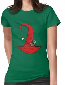 Befana's Hat - Italian Christmas Yule Witch Hat Womens Fitted T-Shirt