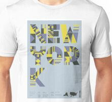 Typographic New York State Poster Unisex T-Shirt