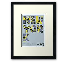 Typographic New York State Poster Framed Print