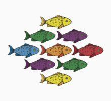 Rainbow Fishes Kids Tee