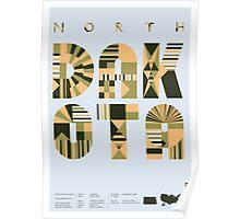 Typographic North Dakota State Poster Poster