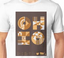 Typographic Ohio State Poster Unisex T-Shirt