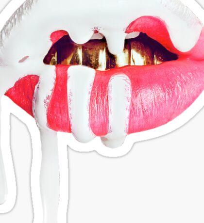 Kylie Cosmetics Lip Logo - White Sticker