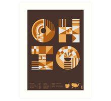 Typographic Ohio State Poster Art Print
