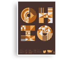 Typographic Ohio State Poster Canvas Print