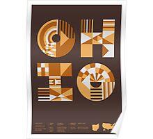 Typographic Ohio State Poster Poster