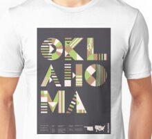 Typographic Oklahoma State Poster Unisex T-Shirt