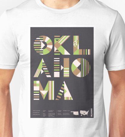 Typographic Oklahoma State Poster Unisex T-Shirt