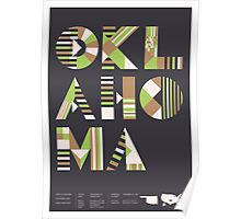Typographic Oklahoma State Poster Poster