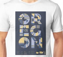Typographic Oregon State Poster Unisex T-Shirt