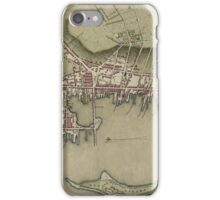 Map of Newport 1777 iPhone Case/Skin