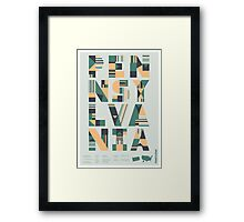 Typographic Pennsylvania State Poster Framed Print