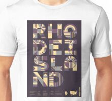 Typographic Rhode Island State Poster Unisex T-Shirt