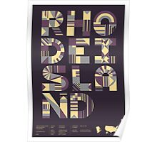 Typographic Rhode Island State Poster Poster