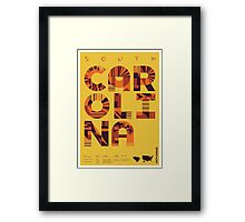 Typographic South Carolina State Poster Framed Print