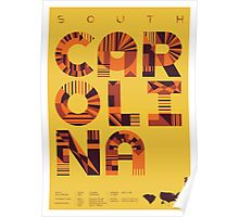 Typographic South Carolina State Poster Poster