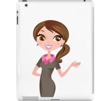 Brunette business woman showing something iPad Case/Skin