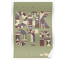 Typographic South Dakota State Poster Poster