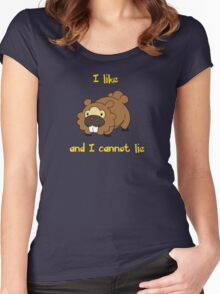 I Like Bidoof and I Cannot Lie Women's Fitted Scoop T-Shirt