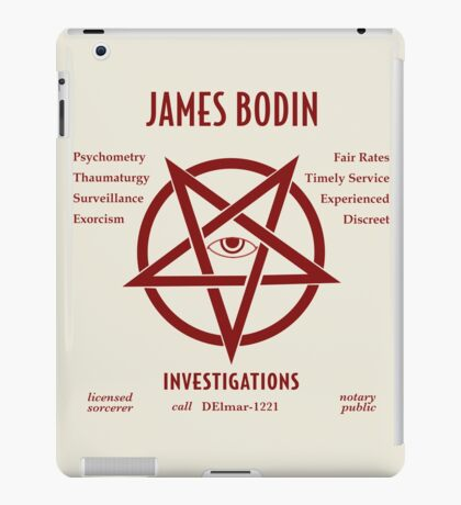 Violent Souls - Bodin Investigations iPad Case/Skin
