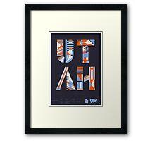 Typographic Utah State Poster Framed Print
