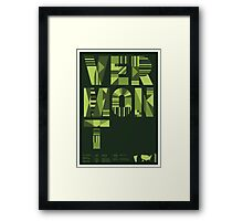 Typographic Vermont State Poster Framed Print