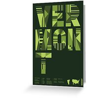 Typographic Vermont State Poster Greeting Card