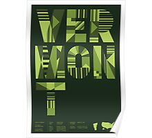 Typographic Vermont State Poster Poster