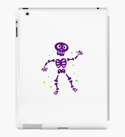 Funny Skeleton isolated on white / purple edition iPad Case/Skin