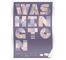 Typographic Washington State Poster Poster