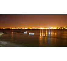 Lisbon seen from the other side of the river. Lisbon is known as The City of Light.  Photographic Print