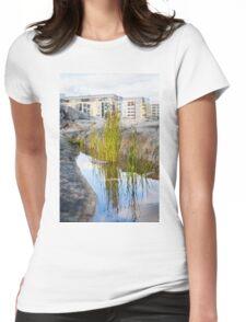 Lakeshore Bulrush Womens Fitted T-Shirt