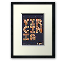 Typographic West Virginia State Poster Framed Print