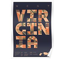 Typographic West Virginia State Poster Poster