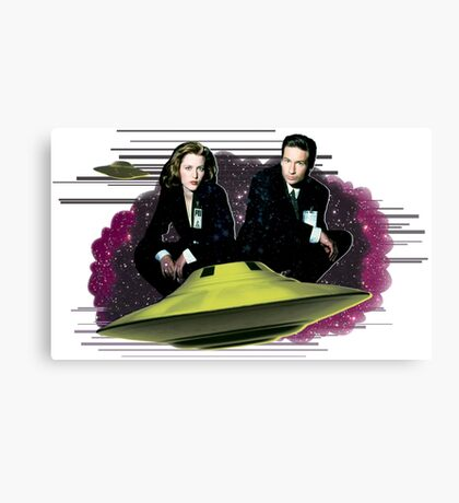 The X Files Canvas Print
