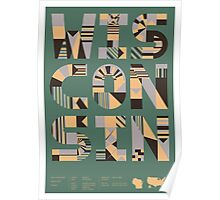 Typographic Wisconsin State Poster Poster