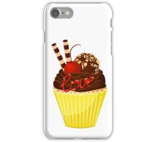Sweet cupcake with chocolade cream. iPhone Case/Skin