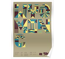 Typographic Wyoming State Poster Poster