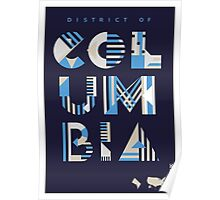 Typographic District of Columbia State Poster Poster