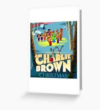 RAB CHARLIE BROWN CHRISTMAS SONG PEANUTS Greeting Card
