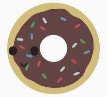 Cute Chocolate Glazed donut with sprinkles Baby Tee