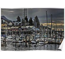 A tiny harbor in Alaska Poster