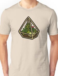 Terrarium Pattern in Yellow Unisex T-Shirt