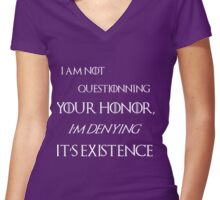honor tyrion lannister dark Women's Fitted V-Neck T-Shirt