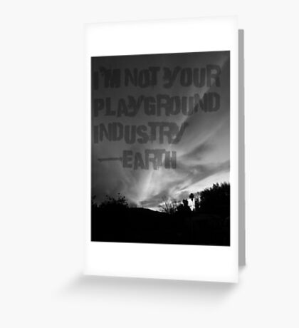 Unsilent Earth - Punk Variation Greeting Card