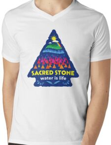Sacred Stone Shirt Mens V-Neck T-Shirt